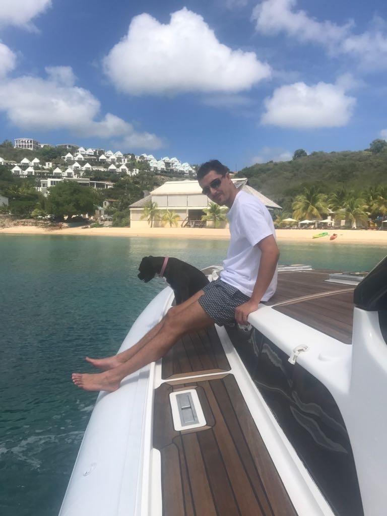 Gabi on boat