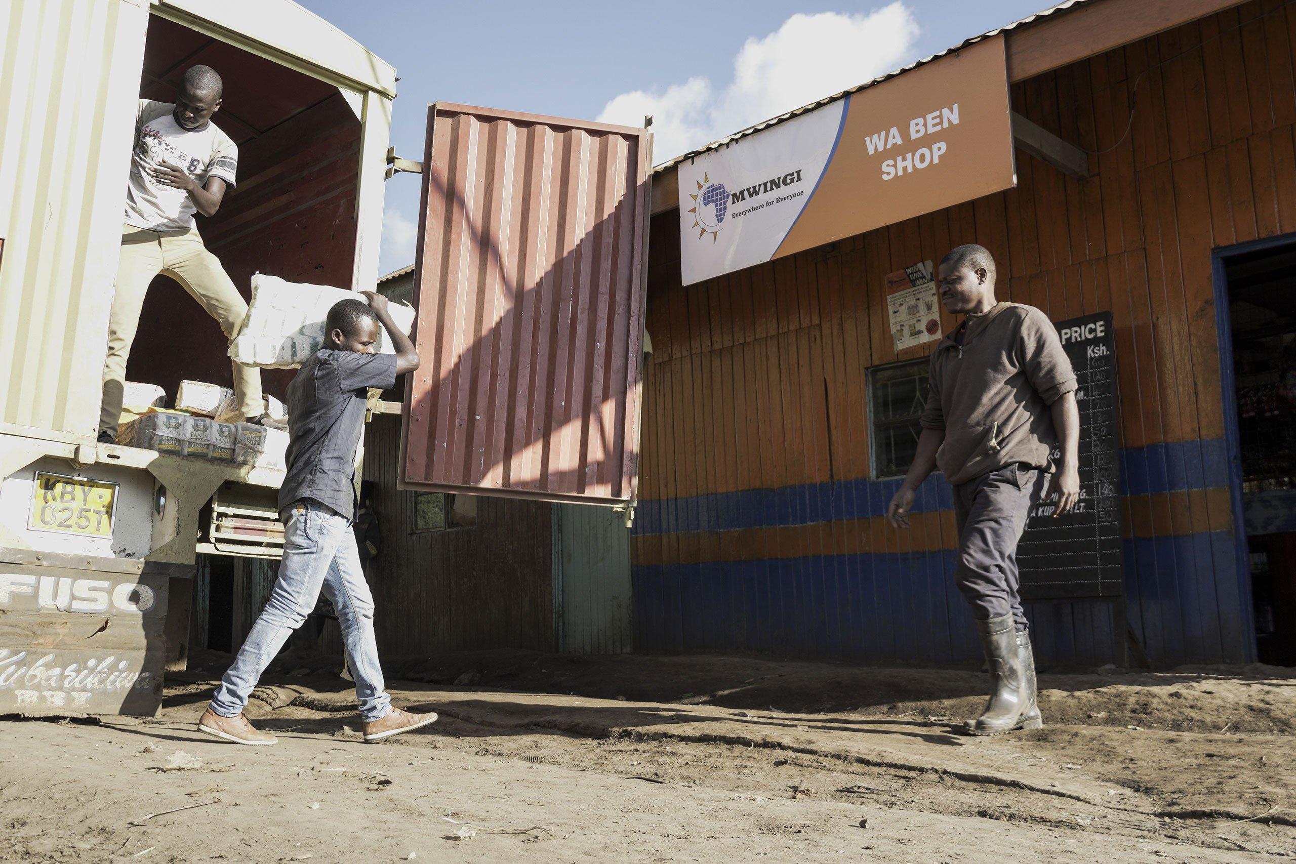 mwingi loading stock